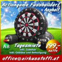 Fussballdart schwarz Riesenfussball