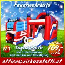 Hüpfburg Feuerwehrauto