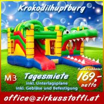 Hüpfburg Krokodil