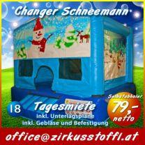 Hüpfburg Indoor Schneemann