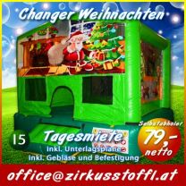 Hüpfburg Indoor Weihnachten